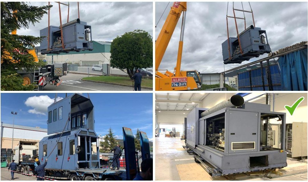TecSA staff assisted ICER Brakes to transfer its truck dynamometer from Pamplona to Tudela