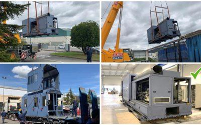 TECSA员工协助ICER BRAKES将其卡车测功机从潘普洛纳(PAMPLONA)转移到图德拉(TUDELA)